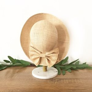 Vintage Women's Straw Hat Neutral Tan Boho Chic